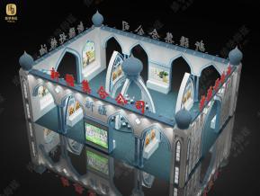 新疆展位展览模型