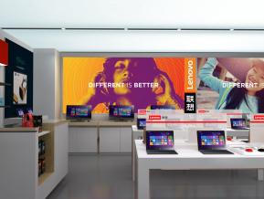 商业空间设计|联想店面效果图