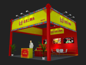 北京二锅头展览模型