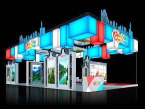 广东旅游展览模型