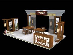 广州院子展览模型