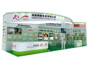 椰国食品展览模型
