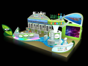 清新福建展览模型