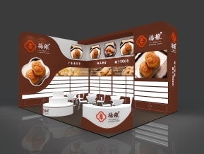 扬航食品展台模型