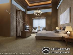 卧室3D模型图片