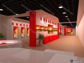 咸安公安局展厅3D模型图片