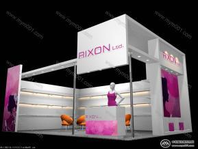 rixon皮革展台模型图片
