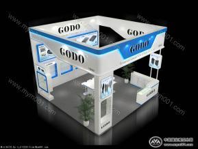 GODO港大展台模型