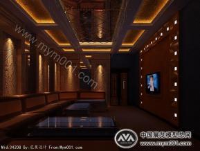 KTV室内设计模型效果图