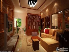 中式客厅、餐厅