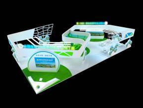 惠州环保技术展台展览展示设计