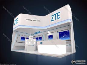 中兴微电子展览模型图片